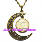 Delicate Moon Necklace,Crescent Moon Jewellery,Quote