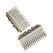 Price per 60 Pieces Jewellery Making Supply Charms Findings Filigrees F6ZM5A Flower Hair Comb Antique Bronze Findings Beading Craft Supplies Bulk Lots