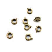 Price per 1030 Pieces Jewellery Making Supply Charms Findings Filigrees F1XB7T Tube Bead Bail Cord Ends Antique Bronze Findings Beading Craft Supplies Bulk Lots