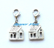 House Charms zipper pull,keychain charm,Zipper Pull, Perfect for Necklaces, Bracelets , keychain and earrings
