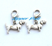 DOG ZIPPER CHARM. Small Dog Zip Charm,Zipper Pull, Perfect for Necklaces, Bracelets , keychain and earrings