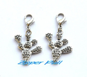 Cactus Charm Zipper Pull, Perfect for Necklaces, Bracelets , keychain and earrings