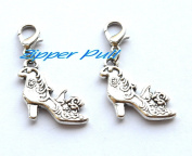 High Heel Zipper Charm, High Heeled Shoe Keyring Clasp, Ladies Shoes Keychain Clasp,Zipper Pull, Perfect for Necklaces, Bracelets , keychain and earrings