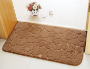 Bathroom Rugs, Chickwin Non-slip Comfortable Flannel Bath Mat Bathroom Carpet Super Absorbent Soft Shower Rug