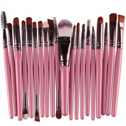 Beauty Top 20 pcs Makeup Brush Set tools Make-up Toiletry Kit Wool Make Up Brush Set