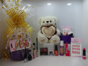 12pc Make Up & Teddy Bear Gift Hamper For Her ~ Mix Brands Make Up Items ~ Gift Wrapped Ready To Gift **Limited Edition**~ Special Offer