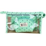 LA HAUTE PVC Clear Cosmetics Bag Set 3 Pcs Waterproof Travel Toiletry Bag Wash Pouch Coin Purse