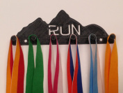 "Plastic 7.5"" RUN MTN Sports Medal Rack, Medal Hanger Medal Organiser Medal Display Triathlon 25 mm Pegs"
