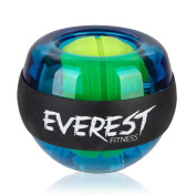 EVEREST FITNESS energy ball to train the hand and arm muscles with rubber grip and casing made of unbreakable plastic | 2 years satisfaction guarantee | hand trainer, gyroscope ball, strengthening ball, grip, gyro ball, exerciser, forearm trainer, reha ..