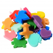 Sumind 24 Pieces Painting Sponge Shapes Painting Stamps Crafting Painting Sponge Kids Sponge, Assorted Colour
