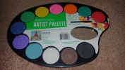 Kids Craft Artist's Palette with Paint Pods and Brush