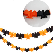 Euone Halloween Party Pull Flower Decoration Pumpkin Spider Sticker Ribbons