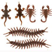 Livoty 6Pcs Halloween Insect Model Centipede Scorpion Gecko Trick Props Bugs