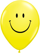 Qualatex Smiley Face Round Emoji Graduation 28cm Latex Balloons, 6 CT