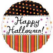 Anagram Vintage Cursive Happy Halloween Polka Dotted 46cm Foil Balloon