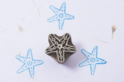 Blockwallah Little Simple Starfish Wooden Block Stamp