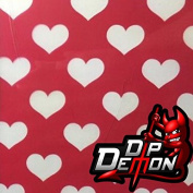 Hearts Hydrographic Water Transfer Film Hydro Dipping Dip Demon