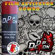 Combo Kit Black And Clear Cartoon Skulls Skeletons Hydrographic Water Transfer Film Activator Combo Kit Hydro Dipping Dip Demon
