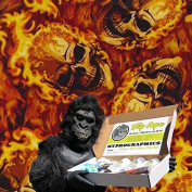 Dip Ape Skulls On Fire Flames Hydrographics Water Transfer Hydro Dip Dipping Kit