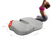 Queen Rose Coccyx Orthopaedic Seat Cushion- Tailbone Pain Cushion - Car Cushion w /100% Memory Foam for Home, Office, Travel, Wheelchair & more