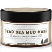 CalilyLife Organic Dead Sea Mud Mask, 250ml - Organic Deep Skin Cleanser – Face and Body Treatment – Eliminates Acne, Wrinkles, Cellulite - Cleanses Pores, Revitalises Skin with a Youthful Glow