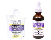 Advanced Clinicals Hyaluronic Acid Cream and Hyaluronic Acid Serum skin care set! Instant hydration for your face and body. Targets wrinkles and fine lines. Spa size 470ml cream and large 50ml serum.