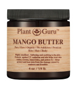 Mango Body Butter 120ml 100% Pure Raw Fresh Natural Cold Pressed. Skin Body and Hair Moisturiser, DIY Creams, Balms, Lotions, Soaps.