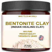 Bentonite Clay Mask, Large 470ml Jar, Indian Healing Clay Powder, Natural Healing Facial Mask, Deep Pore Cleansing, Removes Excessive Facial Oil, Reduces Acne, Made in the USA by Mary Tylor Naturals