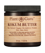 Kokum Butter 240ml 100% Pure Raw Fresh Natural Cold Pressed. Skin Body and Hair Moisturiser, DIY Creams, Balms, Lotions, Soaps.