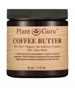 Coffee Butter 240ml 100% Pure Raw Fresh Natural Cold Pressed. Skin Body and Hair Moisturiser, DIY Creams, Balms, Lotions, Soaps.