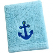 Baby Boy Blue Anchor Blanket 80cm X 100cm