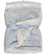 Mon Lapin Reversible Blanket - blue, one size