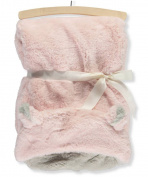 Mon Lapin Hooded Faux Fur Blanket - pink, one size