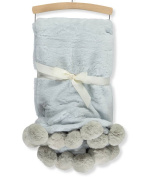 Mon Lapin Faux Fur Blanket - blue, one size