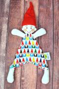 Oliver + Kit - Lars the Gnome - Multi-Colour Gnome - Cotton Snuggle Lovie