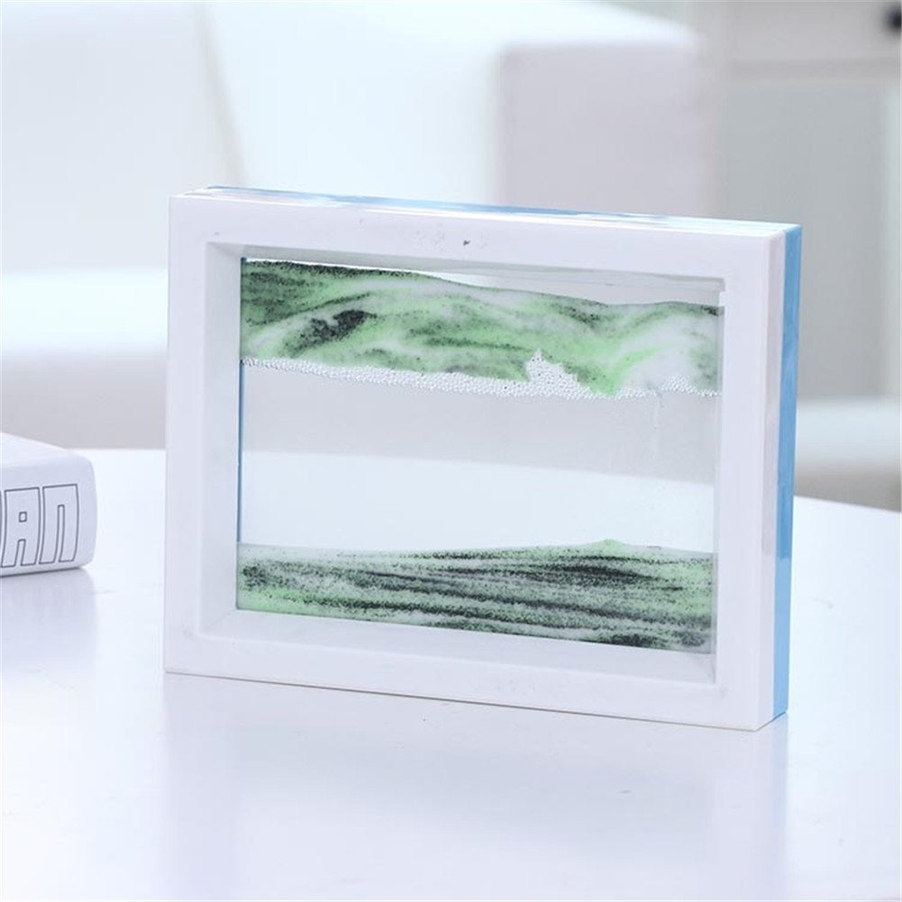 Deerbird® Both Side Differ Colour Moving Grit Picture Abstract Scenery 3D  Vision Moving Grit Picture Flow Sand Painting