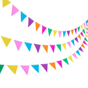 Blulu 3 Pack Paper Pennant Banner 3.5m Party Bunting Hanging Decorations for Wedding Birthday Home Decor