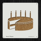 Birthday Cake Candle Happy Presents Style 10865 DIY Plastic Stencil Acrylic Mylar Reusable