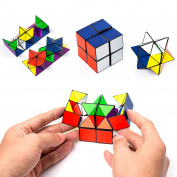 Tiandirenhe Infinite Magic Cube Playing Novelty Variety Colour irregular Decompression Puzzle Brain Teasers Toys for Kids Adult