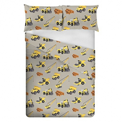 Ready Steady Bed® Diggers Design Children's Double Size Duvet Cover Set