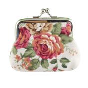 Aurorax Women Lady Retro Vintage Flower Small Wallet Hasp Purse Clutch Bag
