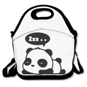 Sleepy Panda Reusable Insulated Lunch Box Tote Bag