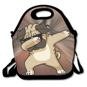 Dabbing Pugs Dog Dab Dance Portable Food Bags Lunch Bags Convenient Lunch Packet Tote