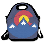 Colorado Sunset Lunch Tote Insulated Reusable Picnic Lunch Bags Boxes For Men Women Adults Kids Toddler Nurses