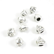 50 Pieces Antique Silver Tone Jewellery Making Supply Charms Filigrees Arts Crafts Beading Findings Crafting H0JC9Z Monkey Bead Bail Cord Ends