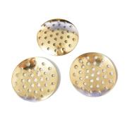 50 Pcs Brooch Base Pad Brooches Bouquet beading back holes Cabochon bezel round blank tray Setting beads disc creative handmade jewellery