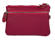 Magenta Multifunctional Disco / Night Out Clutch Bag / Purse / Key Holder / Make Up Bag / Mobile Phone Storage, Made With 100% Genuine Real Leather