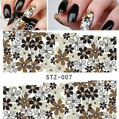 MZP Water Transfer Stickers NEW Beauty Flower Tips Nail Art Decals