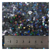 15g LARGE HOLOGRAPHIC GLITTER *4 SIZES *5 COLOURS * CRAFTS NAIL ART CARD MAKING (Black 0.3cm