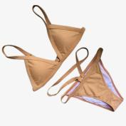 Paymenow women Solid Bikini Set Sexy Bandage Padded Brazilian Tong Swimwear Swimsuit